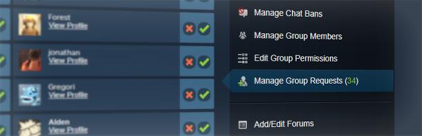 Обновление групп Steam
