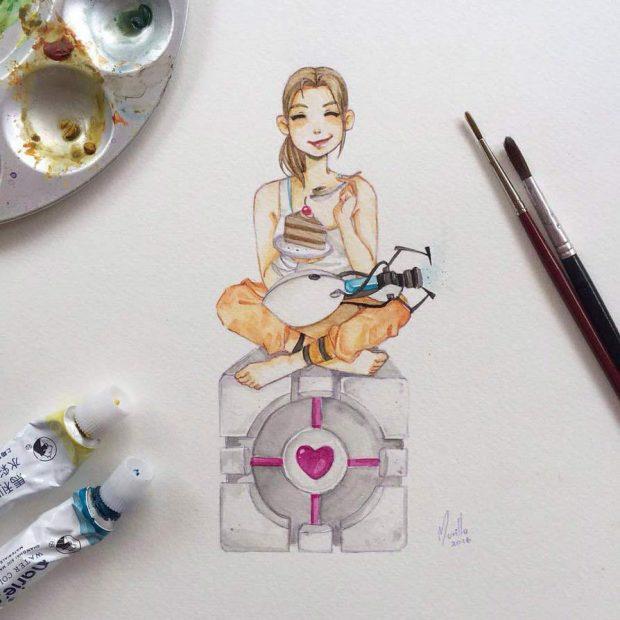 Лучшие арты лета 2016. Portal 2
