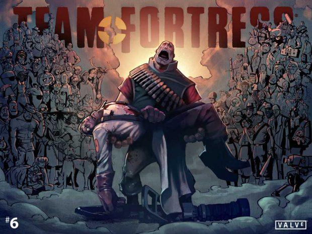 Комикс Team Fortress 2 Голые и мертвые (the naked and the dead) выпуск 6
