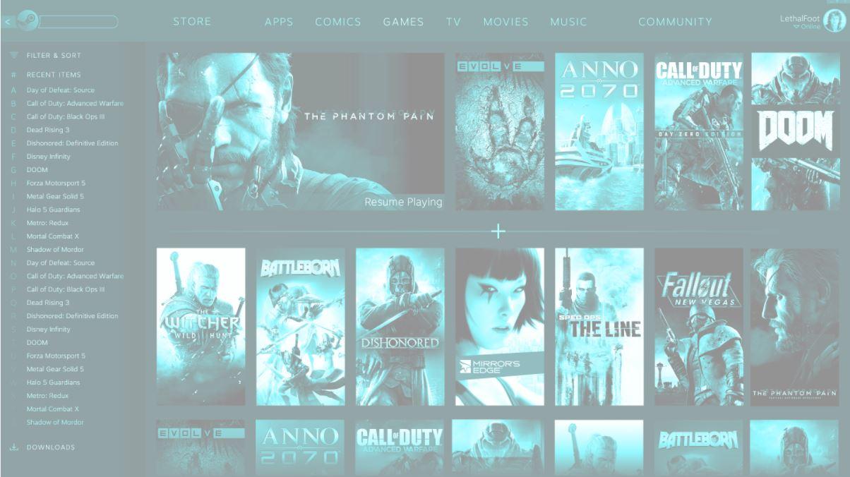 Скриншот из бета версии клиента Steam. Новый дизайн Steam?