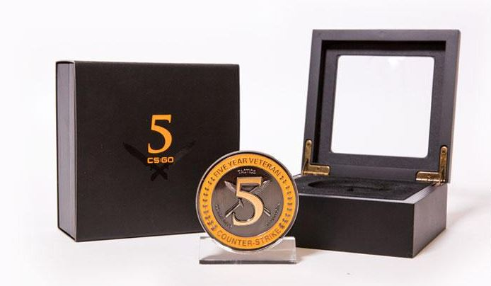 Прездаказ реальной монеты пятилетнего ветерана CS:GO