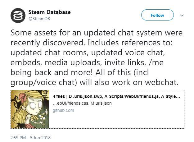 Грядущее обновление чатов в Steam